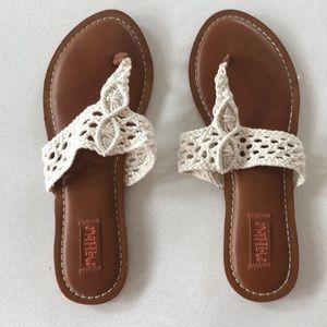 Crochet sandals size 8